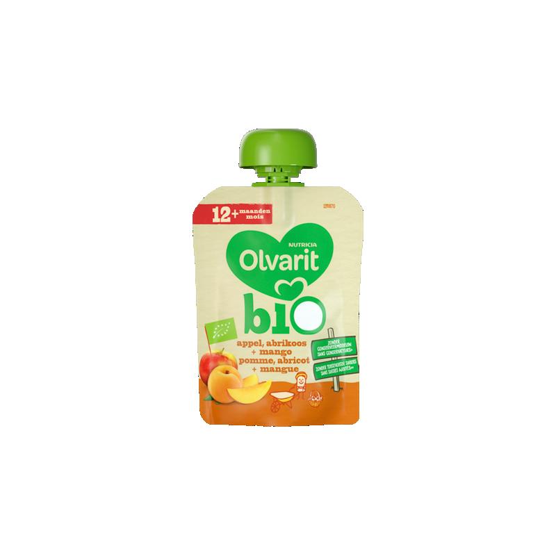 Olvarit Bio appel, abrikoos + mango