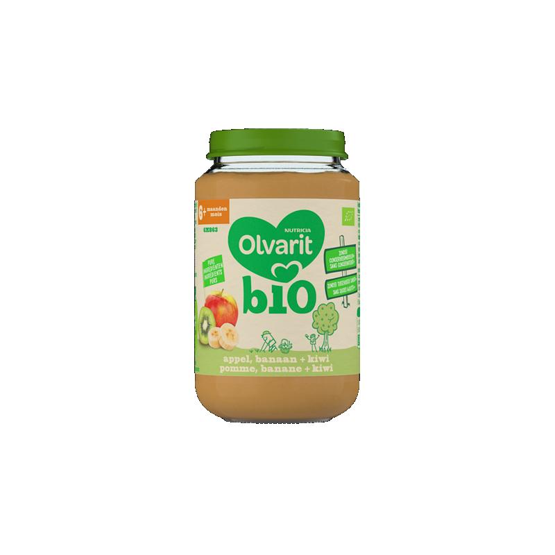 Olvarit Bio Appel, banaan + kiwi