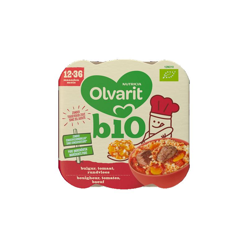 Olvarit Bio Bulgur Tomaat Rundvlees
