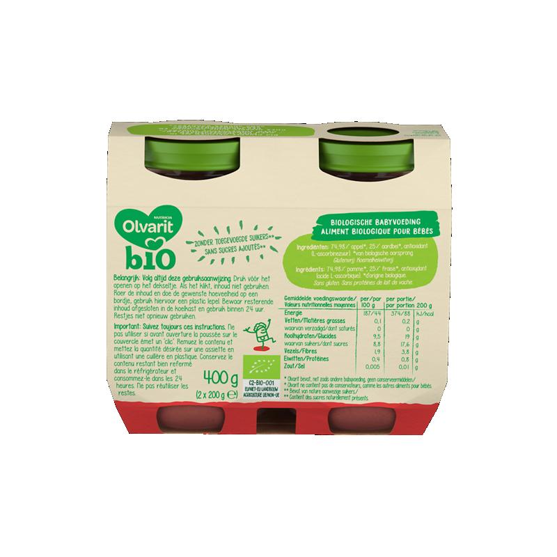Olvarit Bio pomme + fraise