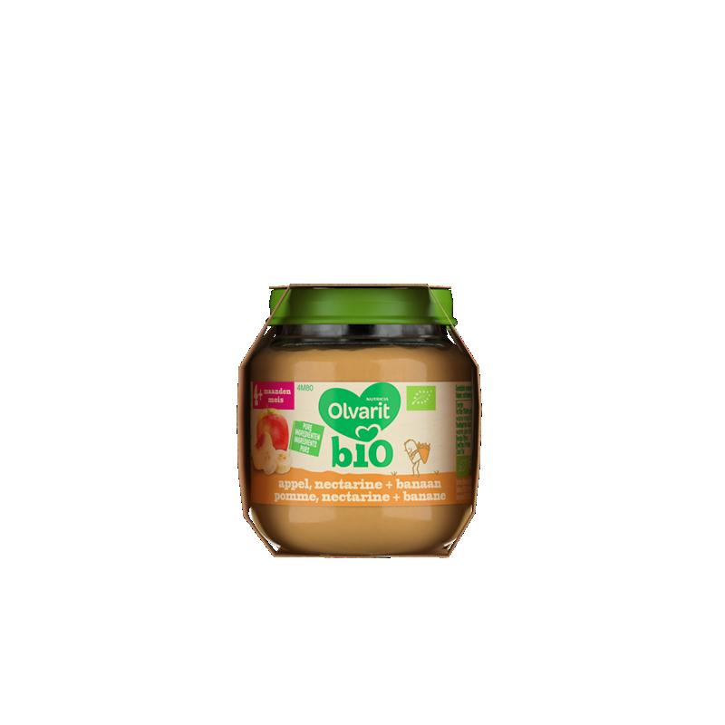 Olvarit Bio pomme, nectarine + banane
