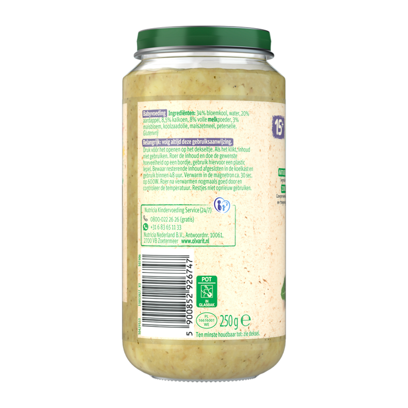 Olvarit Bloemkool Kalkoen Aardappel