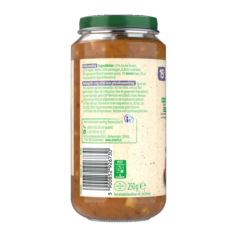 Olvarit Bruine Bonen Appel Rundvlees Aardappel