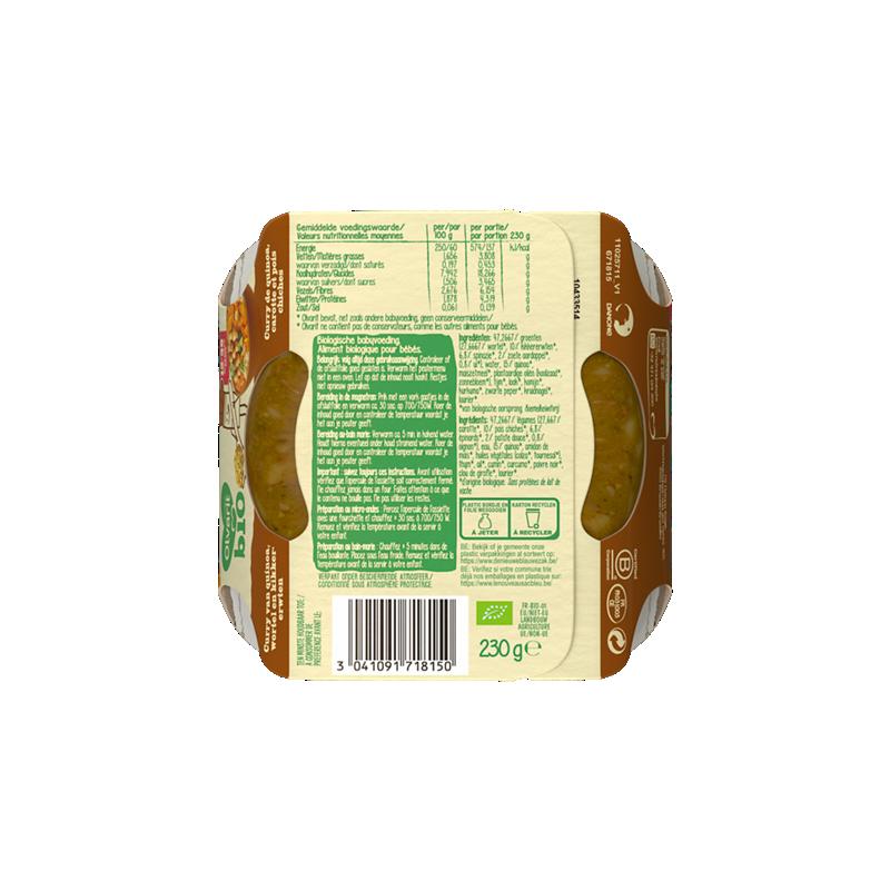 Olvarit Curry van quinoa, wortel en kikkererwten