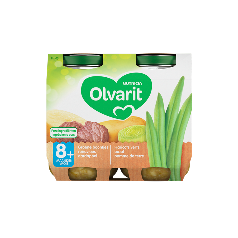 Olvarit Groene boontjes Rundvlees Aardappel