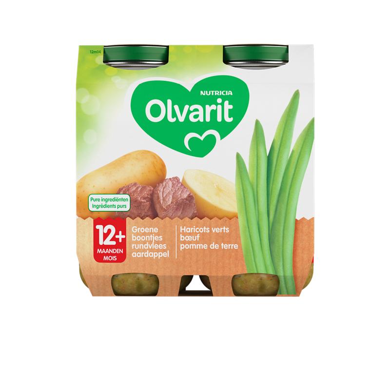 Olvarit Haricots verts bœuf pomme de terre