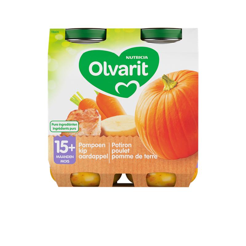 Olvarit Potiron, poulet, pomme de terre