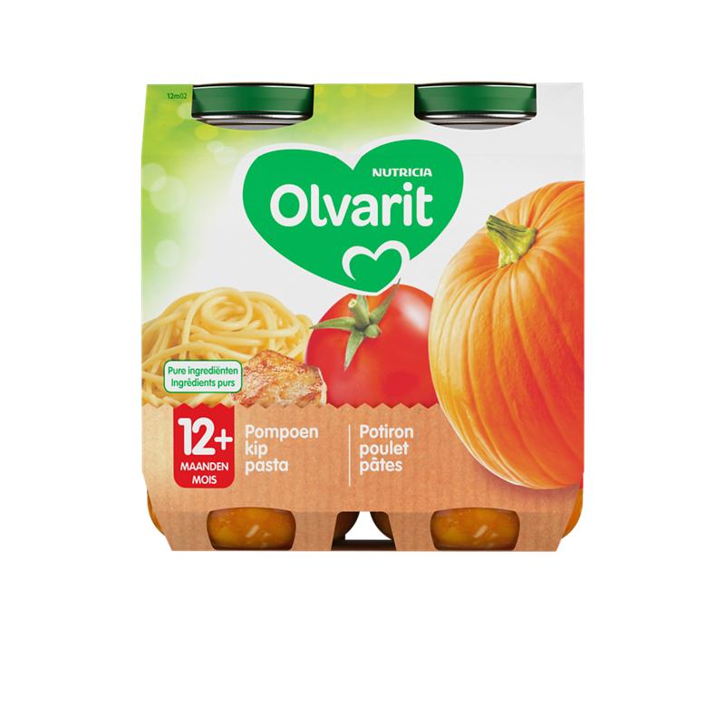 Olvarit Potiron poulet pâtes