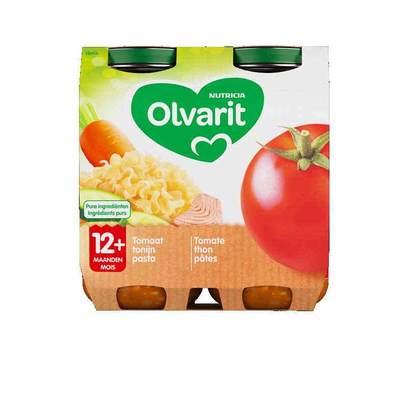 Olvarit Pâtes aux thon, tomate et courgette