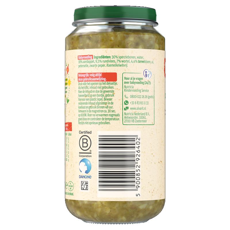 Olvarit Sperziebonen Rundvlees Aardappel