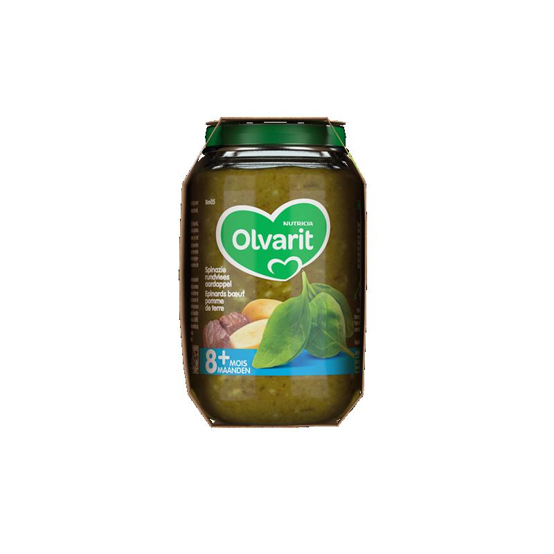 Olvarit Spinazie Rundvlees Aardappel
